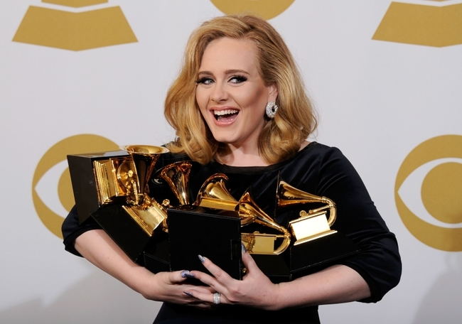 第58回グラミー賞授賞式にパフォーマーとして出演が決定したアデル(Getty Images)