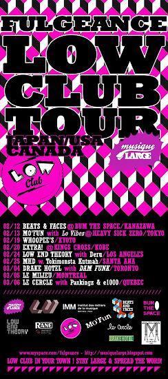 フランスのMPCマスターFULGEANCE、LOW CLUB TOURで来日 (c)Listen Japan