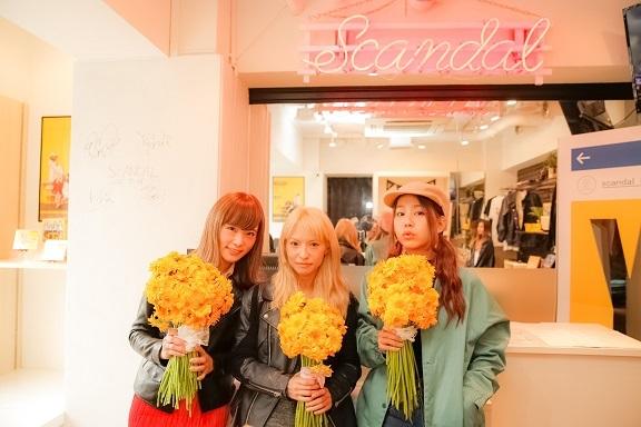3月5日(土)、SCANDALがサプライズで渋谷の街に突如登場!