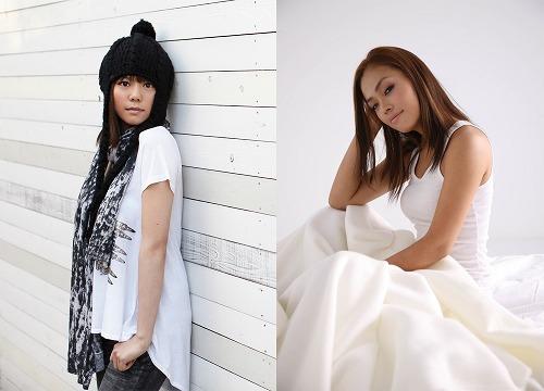 (写真左から)レーベルメイトである菅原紗由理とMiss Monday (c)Listen Japan