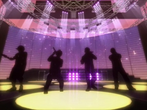 ニンテンドーDS用ソフト『HUDSON×GReeeeN ライブ!? DeeeeS!?』には、メンバーがシルエットで登場しライヴを再現 (c)Listen Japan