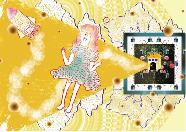 アルバム『うちゅうにむちゅう』にちなんだ8種の「太陽系惑星」描き降ろしグラフィック (okmusic UP\'s)