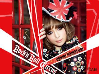 浜崎あゆみ「うたピク」『Rock'n'Roll Circus』ジャケット写真CDテンプレート (c)Listen Japan