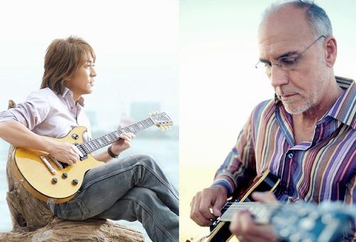 B'zの松本孝弘とラリー・カールトン。日米を代表するギタリストが共演 (c)Listen Japan