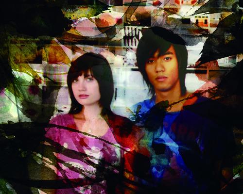 東京在住のアメリカ人/カナダ人のアコースティックデュオ、c.cedille (c)Listen Japan