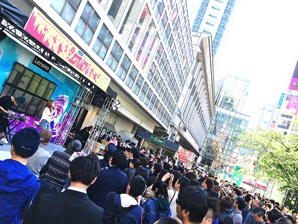 4月29日@渋谷ハチ公前特設スペース (okmusic UP's)