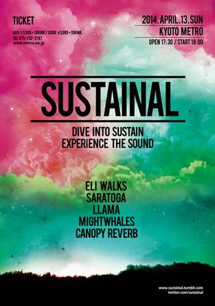 『sustainal』フライヤー (okmusic UP\'s)