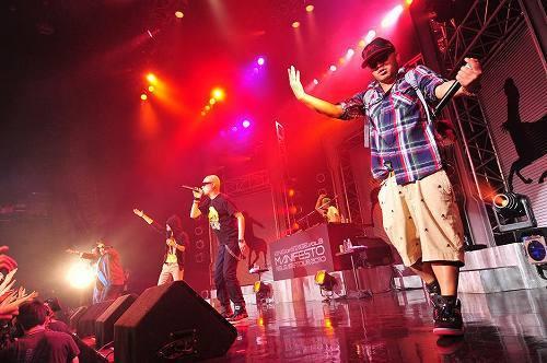 ライムスター4年振りのツアー「KING OF STAGE Vol.8 〜マニフェスト RELEASE TOUR 2010〜」より (c)Listen Japan