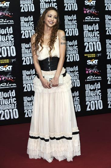 世界最大級の音楽祭典【WORLD MUSIC AWARDS 2010】に出演した安室奈美恵 (c)Listen Japan
