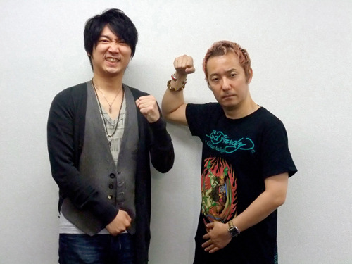 「小野坂・小西のO + K(O TASU KE)」より、小西克幸(左)、小野坂昌也(右) (c)ListenJapan