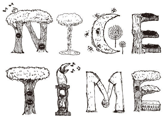 『NICE TIME2014』ロゴ (okmusic UP\'s)