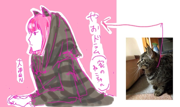 「ONOMIMONO」のネコ化見本画像 (okmusic UP\'s)
