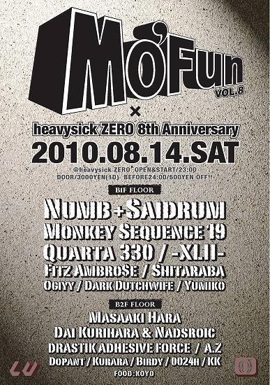 Heavysick Zero8周年の『Mo' Fun』、Numb&Saidrumらをゲストに「世代を超えた音での対話」 (c)Listen Japan