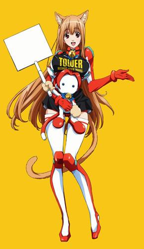 「タワーレコード新宿×あそびにいくヨ!」コラボでタワレコエプロンを纏ったエリス (C)神野オキナ・メディアファクトリー/キャーティア大使館