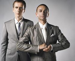 アンダーワールドのカール・ハイド(写真右)とリック・スミス (c)Listen Japan