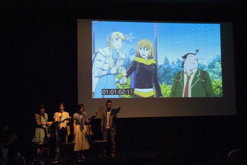 イベントで行われた生アフレコの模様 (C)B・P・W / ヒーローマン製作委員会・テレビ東京