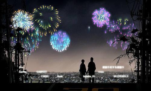 ネット上で日本記録を目指したヴァーチャル花火大会の模様 (c)Listen Japan