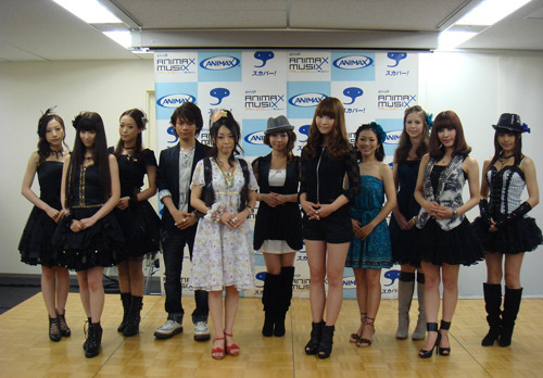 """ANIMAX MUSIX FALL 2010 supported by スカパー!""の記者会見の模様 (c)ListenJapan"