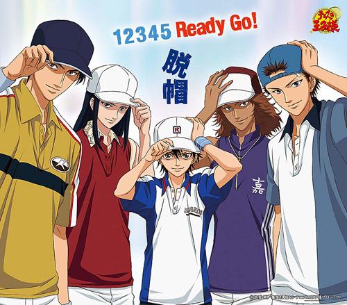全員帽子キャラ! 脱帽「1 2 3 4 5 Ready Go!」ジャケット画像 (C)許斐剛/集英社・NAS・テニスの王子様プロジェクト