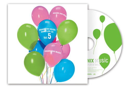 """東京ゲームショウ2010会場の""""スクウェア・エニックス ミュージック CDショップ""""でCDを購入した人にプレゼントされる「SQUARE ENIX MUSIC SAMPLER CD Vol.5」 (C)2010 SQUARE ENIX CO.,LTD. All Rights Reserved."""