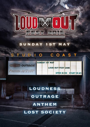 DVD『LOUD∞OUT FEST 2016 / Loudness , Outrage , Anthem , Lost Society』 (okmusic UP's)