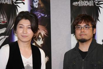 完成試写会&記者会見に出席した小野大輔さん(左)、黒川智之監督 (c)ListenJapan