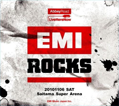 ジャケットが公開された「EMI ROCKSオフィシャル記念ライヴCD」 (c)Listen Japan