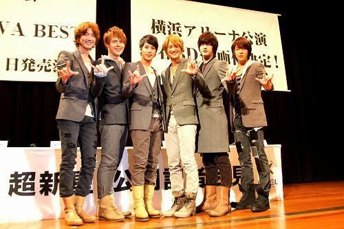 公開記者会見で、ベスト盤のリリースを発表した超新星 (c)Listen Japan