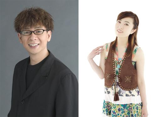 「HYPNAGOGIA」に出演する声優の山寺宏一(左)、林原めぐみ(右) (c)ListenJapan