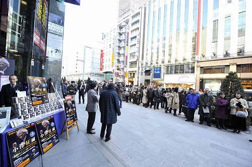 「世界のオザワ」復活CDを求め銀座山野楽器本店に長蛇の列 photo credit by Kentaro Kanbe (c)Listen Japan