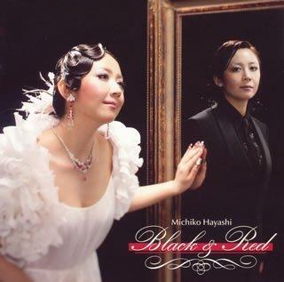 林美智子『赤と黒~Black&Red~』のジャケット写真 (okmusic UP\'s)