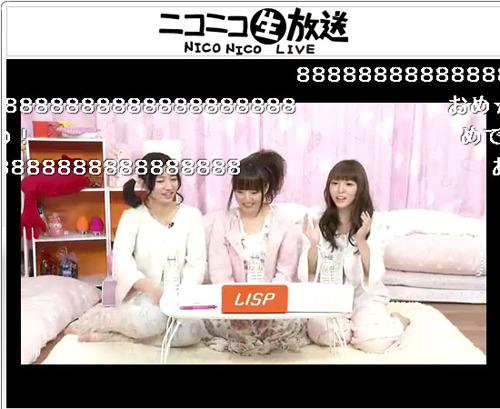 「部屋とパジャマとLISP」ニコニコ生放送の模様 (c)ListenJapan