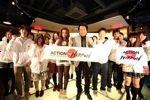 被災地復興支援プロジェクトのトークイベントに参加した高橋ジョージと真崎ゆか (c)Listen Japan