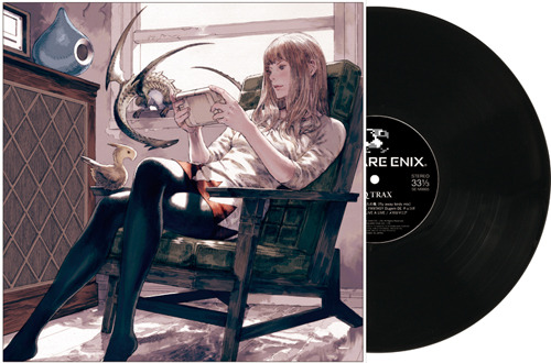 『SQ TRAX』(エスキュートラック)LP盤ジャケット画像 (C)2011 SQUARE ENIX ENIX CO.,LTD. Illustrated by Akihiko Yoshida (c)ListenJapan