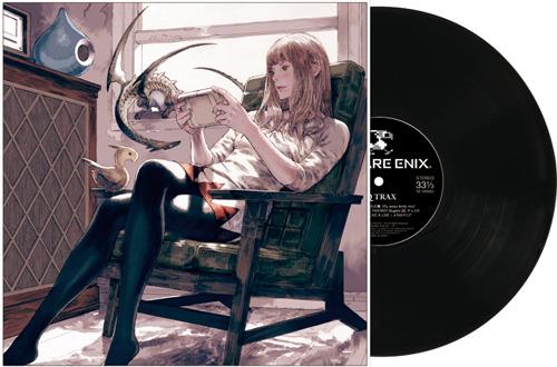 『SQ TRAX』(エスキュートラック)LP盤ジャケット画像 (C)2011 SQUARE ENIX ENIX CO.,LTD. Illustrated by Akihiko Yoshida (c)ListenJapan