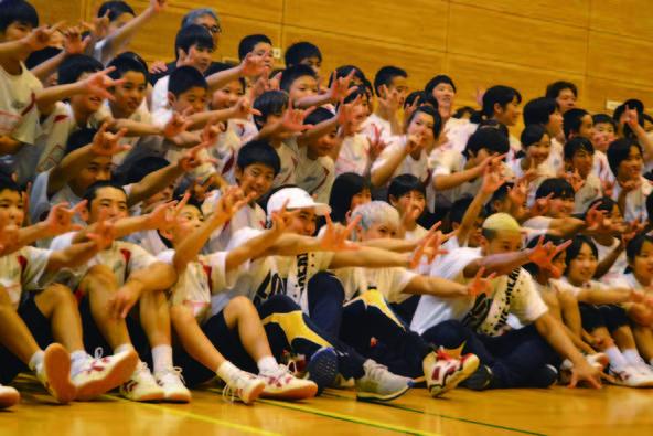 10月27日@熊本・南阿蘇 村中学校 (okmusic UP's)