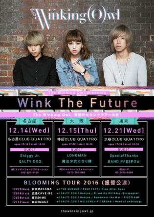 主催イベント『Wink The Future 2016』フライヤー (okmusic UP's)