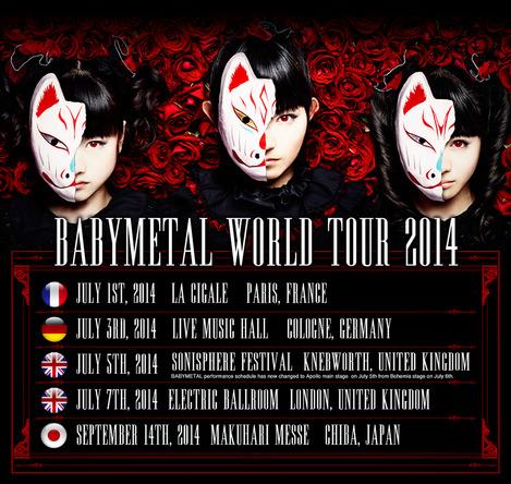 BABYMETAL WORLD TOUR 2014  (okmusic UP\'s)