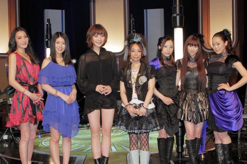 """ANIMAX MUSIX 2011""記者会見に登壇した左より)ELISA、茅原実里、May'n、KOTOKO、Kalafina (c)ListenJapan"