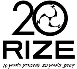 RIZE デビュー20周年ロゴ (okmusic UP's)