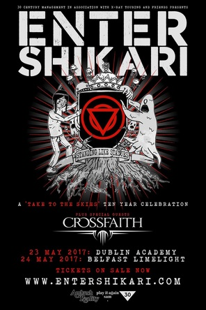 「Crossfaith UK/EU TOUR 2017 with Enter Shikari」ポスター (okmusic UP's)