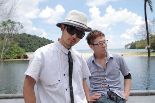 大阪出身のFALCOとSHINOの2MCによる新人アーティストFALCO&SHINO (c)Listen Japan