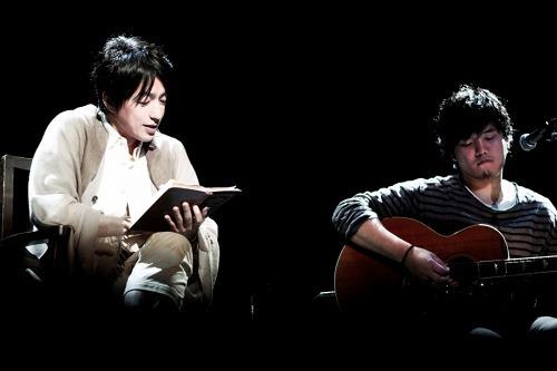 秦 基博と大沢たかおが朗読×アコースティック・ライブセッションを開催 (photo by 笹原清明) (c)Listen Japan