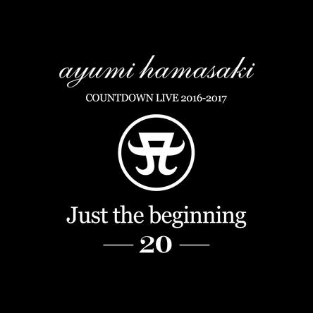 『ayumi hamasaki COUNTDOWN LIVE 2016-2017 A 「Just the beginning-20」-』ロゴ (okmusic UP's)