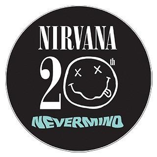 オフィシャルサイトに掲載されたニルヴァーナ『ネヴァーマインド』20周年のロゴ (c)Listen Japan