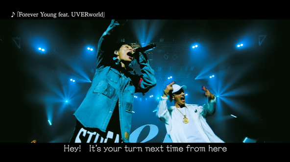 「Forever Young feat. UVERworld」MVキャプチャ (okmusic UP's)