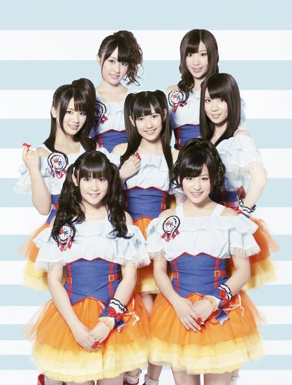 渡り廊下走り隊7がニュー・シングル「へたっぴウィンク」発売日にニコファーレでライヴ (c)Listen Japan