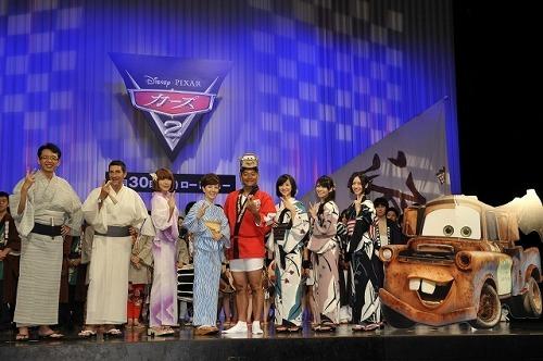 映画『カーズ2』ジャパン・プレミアに浴衣姿で登場したPerfume (c)Listen Japan