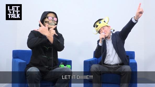 『LET IT DIE』LET IT TALK SIE篇#2 画像(左から:アンクル・デス、ソニー・インタラクティブエンタテインメントジャパンアジア 盛田 厚氏) (okmusic UP's)