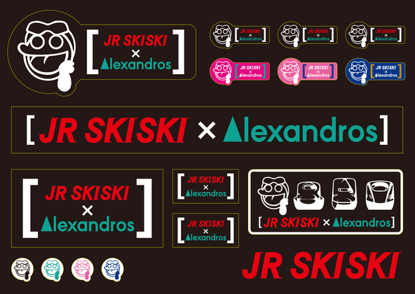 JR SKISKIx[Alexandros] ステッカー (okmusic UP's)